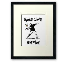 Make Love, Not War Framed Print