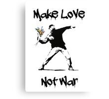 Make Love, Not War Canvas Print