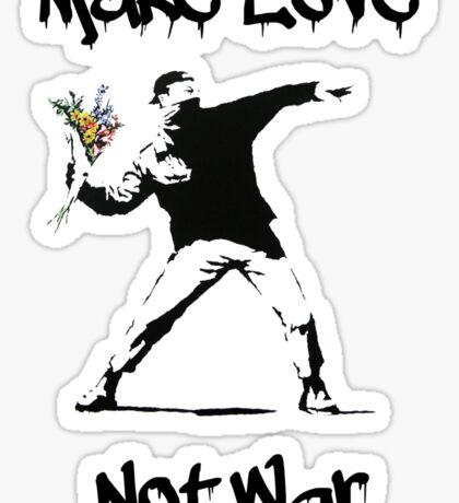 Make Love, Not War Sticker