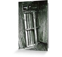 The Shed Door Greeting Card