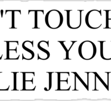 don't touch me unless you're kylie jenner Sticker