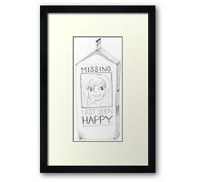 PENCIL ART - Take Full Responsibility For Our Happiness Framed Print