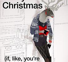 Xmas Card Reindeer Whatever by Dyna Moe