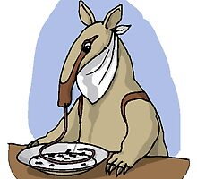 Anteater Eating At Table by kwg2200