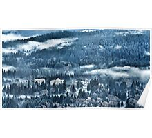 Misty View from Burnaby Mountain Poster