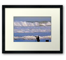 Waves that scared the surfers away Framed Print