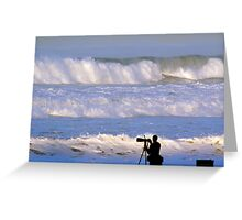 Waves that scared the surfers away Greeting Card