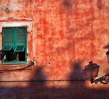 Italian window and streetlamp by Silvia Ganora