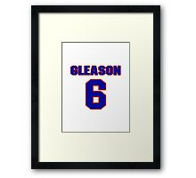 National Hockey player Tim Gleason jersey 6 Framed Print