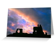 clouds over Newark Castle Greeting Card