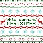 wAts sapning CHRISTMAS (colored text) by kittenblaine