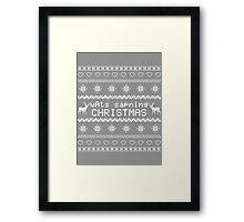 wAts sapning CHRISTMAS (light text) Framed Print