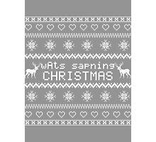 wAts sapning CHRISTMAS (light text) Photographic Print