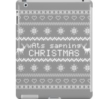 wAts sapning CHRISTMAS (light text) iPad Case/Skin