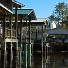 Boat houses on the Canal by Stacey Lynn Payne