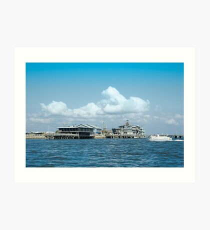 Dock Street, Cedar Key, Florida Art Print