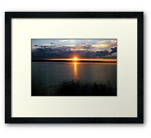 manipogo sunset Framed Print
