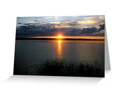 manipogo sunset Greeting Card