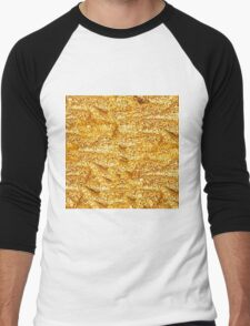 Gold Glittering Gold Men's Baseball ¾ T-Shirt