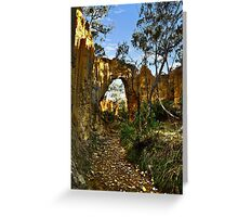 Golden Gully, Tambaroora - Larger arch Greeting Card