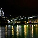 St. Paul&#x27;s and the Millenium Bridge, London by Vincent Abbey