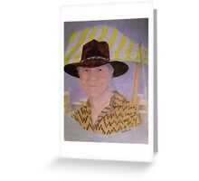 Contemporary Native American Chief Greeting Card