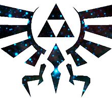 Hyrule crest-- starry print by vunarous