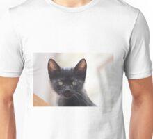 black kitten portrait Unisex T-Shirt