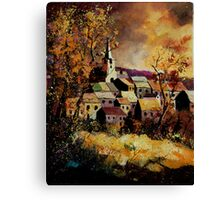 Houyet in autumn Canvas Print