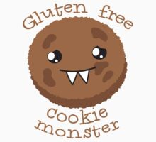 Gluten Free Cookie Monster with cute kawaii biscuit Kids Clothes