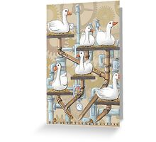 Six Geese Laying Greeting Card