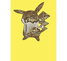 Pokemon Kanto Map in Pikachu cut out Photographic Print
