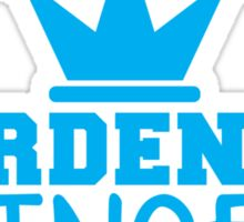 HARDEN up PRINCESS with a royal crown in BLUE Sticker