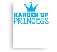 HARDEN up PRINCESS with a royal crown in BLUE Canvas Print