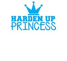 HARDEN up PRINCESS with a royal crown in BLUE Photographic Print