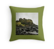Dunluce Castle Throw Pillow