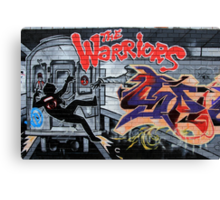 Street Art: global edition # 44 - Who are the Warriors? Canvas Print