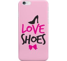 LOVE SHOES with funky fashion black shoes and a bow iPhone Case/Skin