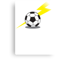Football Soccer ball with a lightning bolt Canvas Print