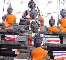 2552 Buddhas for Vesak by Marie Tixier-Brennan