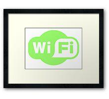 Wifi Green Framed Print