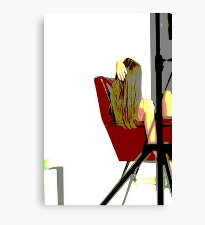 abstract model Canvas Print