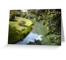 meandering river Greeting Card