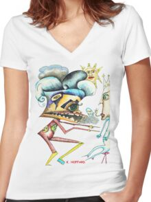 Alien War Women's Fitted V-Neck T-Shirt