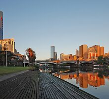 Yarra Bridges by Peter Hammer