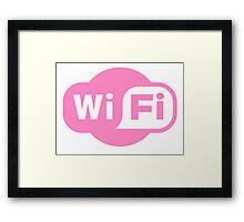 Wifi Pink Framed Print