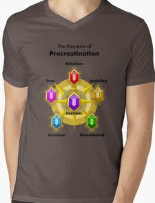 Procrastinate Mens V-Neck T-Shirt