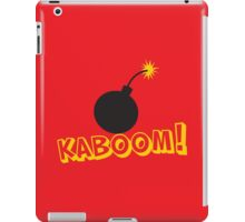 KABOOM cartoon explosion noise with bomb iPad Case/Skin