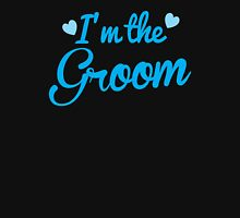 I'm the Groom wedding day design in blue Unisex T-Shirt