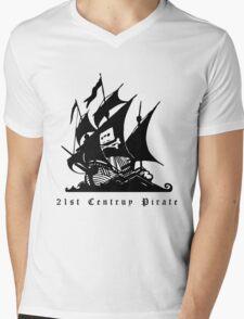 21st Century Pirate Mens V-Neck T-Shirt